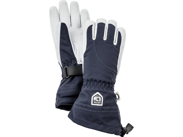 Hestra Heli Ski 5 Finger Gloves Women navy/off-white